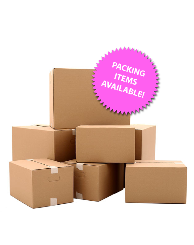 Packing items available