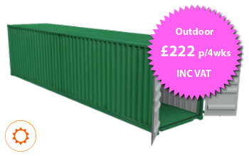 40ft x 8ft Container